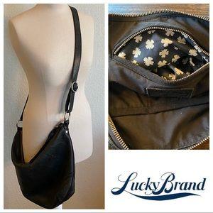 Lucky Brand Black Leather Crossbody Bag